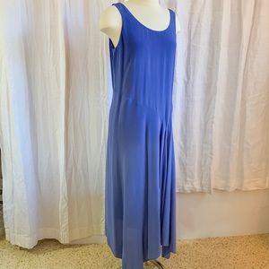 EILEEN FISHER Silk Georgette Maxi Dress S